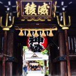 「櫛田神社」を一の鳥居から参道を歩いて参拝、博多の歴史観光スポット